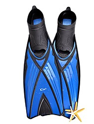 cheap -YON SUB Diving Fins Professional Anti-skidding Long Blade Swimming Diving Snorkeling TPR PP - for Adults Blue