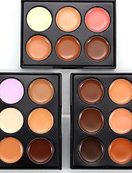 abordables -6 couleurs Humide Poids Léger / Mini / Correcteur Homme / Lady / mains # Traditionnel / Doux Imperméable / Palette Entraînement / Débutant / Festival Maquillage Cosmétique