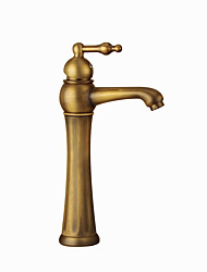 cheap -Bathroom Sink Faucet - Standard / Widespread Antique Copper Centerset Single Handle One HoleBath Taps