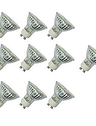 cheap -10pcs 4 W LED Spotlight 300 lm GU10 GU10 60 LED Beads SMD 2835 Decorative Warm White Cold White 220-240 V