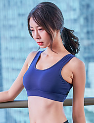 cheap -Women's Sports Bra Top Sports Bra Bra Top Open Back Yoga Running Fitness Breathable Quick Dry Sweat-wicking Padded Light Support Black Burgundy Dark Navy Gray Fashion
