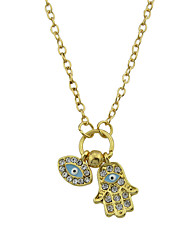 cheap -Women's Pendant Necklace Geometrical Hand Fashion Modern Chrome Gold Hamsa Hand 57 cm Necklace Jewelry 1pc For Daily Work Festival