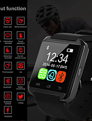 cheap -Men's Digital Watch Digital Rubber Black / White / Red 30 m Water Resistant / Waterproof Bluetooth Smart Digital Outdoor Fashion - White Black Red One Year Battery Life