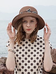 cheap -Polyester Straw Hats with Embroidery 1pc Casual / Daily Wear Headpiece
