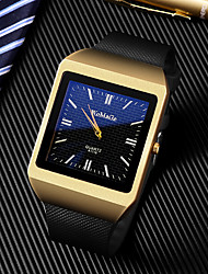 cheap -Men's Dress Watch Quartz Rubber Black Casual Watch Large Dial Analog Luxury Fashion - Gold Golden+Black Golden+White One Year Battery Life