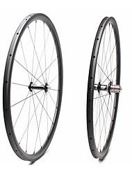 cheap -FARSPORTS 700CC Wheelsets Cycling 25 mm Road Bike Carbon Fiber Tubular 20/24 Spokes 30 mm