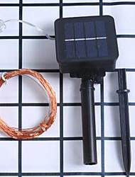 cheap -10m String Lights 100 LEDs 1Set Mounting Bracket 1 set Warm White / White / Blue Waterproof / Solar / Party Solar Powered / IP68