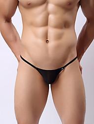 abordables -Homme Basique G-string Sous-vêtements 1 Pièce Taille basse Noir Blanche Rouge M L XL