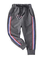 cheap -Kids Boys' Active Basic Solid Colored Color Block Patchwork Patchwork Drawstring Cotton Pants Black