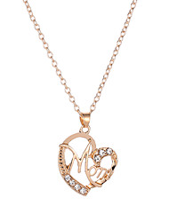 cheap -Women's Pendant Necklace Name Chrome Rose Gold Black Gold Silver 51 cm Necklace Jewelry 1pc For Street Promise Festival