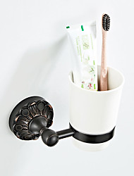 cheap -Retro Black Embossed Chassis Toothbrush Holder / Towel Bar New Design Country / Antique Ceramic / Brass 1pc - Bathroom / Hotel bath Wall Mounted