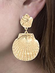 cheap -Women's Drop Earrings Dangle Earrings Tropical Shell Classic Vintage European Ethnic Earrings Jewelry Gold / Silver For Daily Street Work 1 Pair