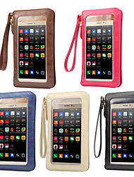 cheap -6.3 inch Case For Universal with Windows / Card Holder Pouch Bag Solid Colored Soft PU Leather