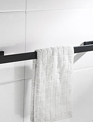 cheap -Towel Bar New Design Metal Bathroom Single Rod Stainless Steel Wall Mounted Bath Towel Rack Matte Black 1PC