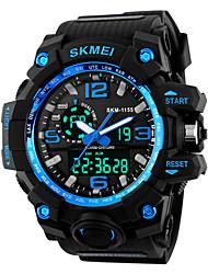 cheap -SKMEI Men's Digital Watch Digital Casual Water Resistant / Waterproof Digital Golden Black Red / Rubber / Alarm / Calendar / date / day / Stopwatch / Noctilucent