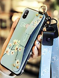 abordables -Coque Pour Xiaomi Xiaomi Redmi 6 Pro / Xiaomi Mi Play / Xiaomi Redmi Note 4X Antichoc / Avec Support Coque Fleur Flexible faux cuir