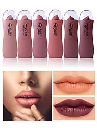 abordables -6 pcs 6 couleurs Maquillage Quotidien Imperméable / Design Tendance Mat Etanche / Gloss coloré / Humidité Mat / Mode Maquillage Cosmétique Accessoires de Toilettage
