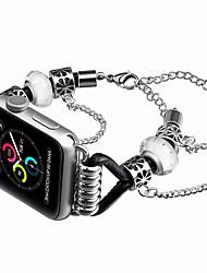 Недорогие -ремешок для часов серии apple 4/3/2/1 дизайн ювелирных изделий Apple из натуральной кожи / металлический ремешок