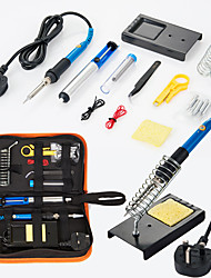 Недорогие -электрический утюг паяльник комплект 60 Вт сумка портативный ремонт инструменты
