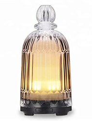 cheap -Glass Vase Aromatherapy Humidifier Ultrasonic Mute Lamp Household Air Purification Essential Oil Diffuser