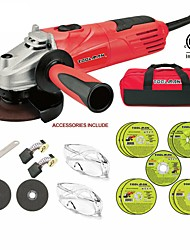cheap -Toolman 19 pcs Electric Angle Grinder Disc Side Grinder 4-1/2 4.8 Amps & Cut of
