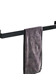cheap -Towel Bar Self-adhesive Contemporary Metal Bathroom Single Rod Wall Mounted Matte Black 1PC