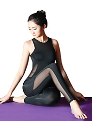 cheap -Ballet Leotard / Onesie Split Joint Women's Training Performance Sleeveless High Elastic Elastane