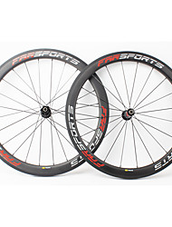 cheap -FARSPORTS 700CC Wheelsets Cycling 23 mm Road Bike Carbon Fiber Clincher / Tubeless Compatible 20/24 Spokes 50 mm