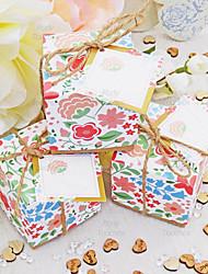 Недорогие -Кубик Розовая бумага Фавор держатель с Ленты Товары для дома / Подарочные коробки - 50 ед.