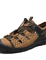 cheap -Men's Hiking Shoes Breathable Comfortable Travel Walking Summer Black Brown