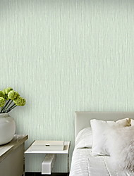 cheap -Wallpaper Wall Covering Sticker Film Green Embossed Adhesive Required Non Woven Home Décor 950*53 cm