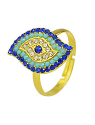 cheap -Women's Ring 1pc Gold Rhinestone Alloy Stylish Unique Design Classic Gift Daily Jewelry Geometrical Cool Lovely