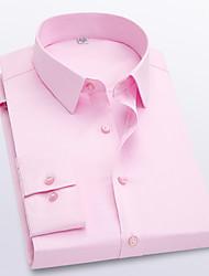 cheap -Men's Solid Colored Shirt Wine / White / Black / Purple / Blushing Pink / Royal Blue / Navy Blue / Light Blue