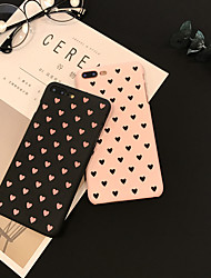 cheap -Case For Apple iPhone XR / iPhone X / iPhone 8 Plus Frosted / Pattern Back Cover Heart Hard Plastic