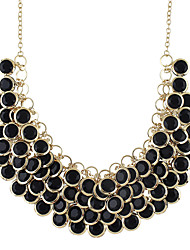 cheap -Women's Collar Necklace Chunky Fashion Acrylic Chrome White Black 47 cm Necklace Jewelry 1pc For Daily Work Festival