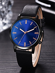 cheap -Men's Dress Watch Quartz Leather Black / Blue / Brown 30 m Water Resistant / Waterproof Creative New Design Analog - Digital Classic Fashion - Black Brown Blue One Year Battery Life