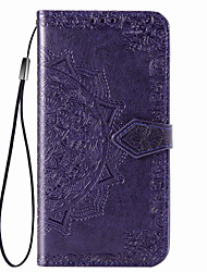 cheap -Case For Huawei Huawei P20 lite / Huawei P30 / Huawei P30 Pro Card Holder / Magnetic / Auto Sleep / Wake Up Full Body Cases Solid Colored PU Leather / PC
