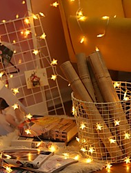 cheap -10m String Lights 100 LEDs Warm White Decorative 220-240 V 1 set