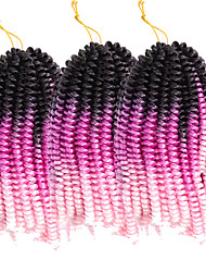 """cheap -Braiding Hair Curly Twist Braids Curly Braids Crochet Hair Braids Synthetic Hair 3 Pieces Hair Braids Natural Color 8"""" Elastic Synthetic Crochet Braids Dailywear Festival African Braids / Ombre Hair"""