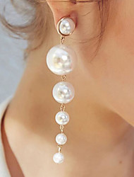 cheap -Women's Drop Earrings Long Stylish Unique Design Imitation Pearl Earrings Jewelry White For Daily Work 1 Pair