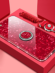 cheap -Rose Case For Apple iPhone 11 iPhone XR Bling Bling Mirror Back Cover iPhone Case Solid Colored Hard Tempered Glass Case for iPhone 11Pro 11ProMax XS iPhone XS Max