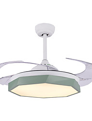 cheap -1-Light QINGMING® 108 cm Multi-shade / LED Ceiling Fan Metal Circle Painted Finishes LED / Modern 110-120V / 220-240V