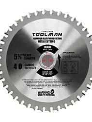 cheap -Toolman Circular Saw Blade Universal Fit 5 3/8 40T For Metal Aluminum Steel