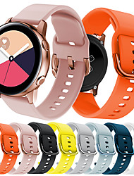 cheap -Smart Watch Band for Samsung Galaxy 1 pcs Sport Band Silicone Replacement  Wrist Strap for Gear S2 Samsung Galaxy Watch 42mm Samsung Galaxy Active 20mm