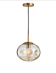 cheap -1-Light 25 cm Pendant Light Glass Glass Globe Electroplated Modern 110-120V / 220-240V