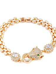 cheap -Women's Gold Cubic Zirconia Chain Bracelet Classic Happy Fashion Titanium Steel Bracelet Jewelry Gold For Gift Daily / Imitation Diamond