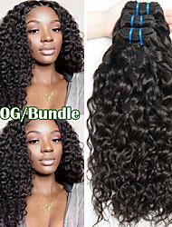 Недорогие -3 Связки Бразильские волосы Волнистые 100% Remy Hair Weave Bundles 300 g Человека ткет Волосы Пучок волос One Pack Solution 8-28 inch Естественный цвет Ткет человеческих волос