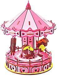 abordables -Puzzles en bois Jeux de Logique & Casse-tête manège Fait à la main Interaction parent-enfant En bois 1 pcs Enfant Adulte Tous Jouet Cadeau