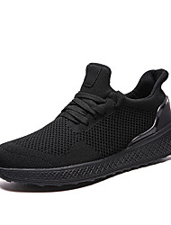 cheap -Men's Comfort Shoes Mesh Summer Casual Athletic Shoes Walking Shoes Breathable Black / White / Red
