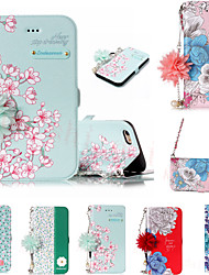 cheap -Case For Apple iPhone XS Max / iPhone X with Stand / Wallet / Card Holder Full Body Cases Flower Hard TPU / PU Leather for iPhon/e6/6S/6plus6S PLUS/7/8/7 plus/8 plus/X/XS/XR/XS MAX